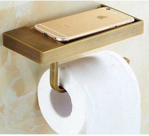 new arrival total brass Antique Brass paper holder bathroom tissue toilet paper toilet paper roll holder bathroom accessories<br><br>Aliexpress