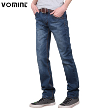 Vomint 2017 Brand men jeans pants Dark Wash Jeans Casual ripped jeans for men Effect Stonewashed High Quality Jeans Denim male(China)