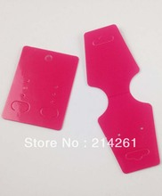 Wholesale Shiping By Express Free Shipping Fashion Earring card Hot Pink Necklace Card & Hang Tag Custom Logo cost extra(China)
