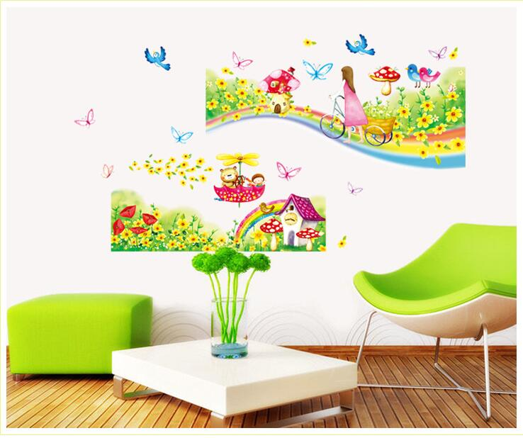 Animal forest lion large wall stickers decals kids room decor nursery sch I23 1X