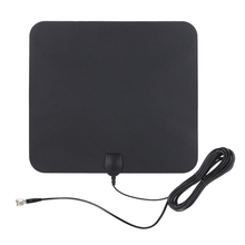 Indoor Digital TV Antenna High Performance 25 Mile Range with 5M Coax Cable Better Reception For HDTV(China)