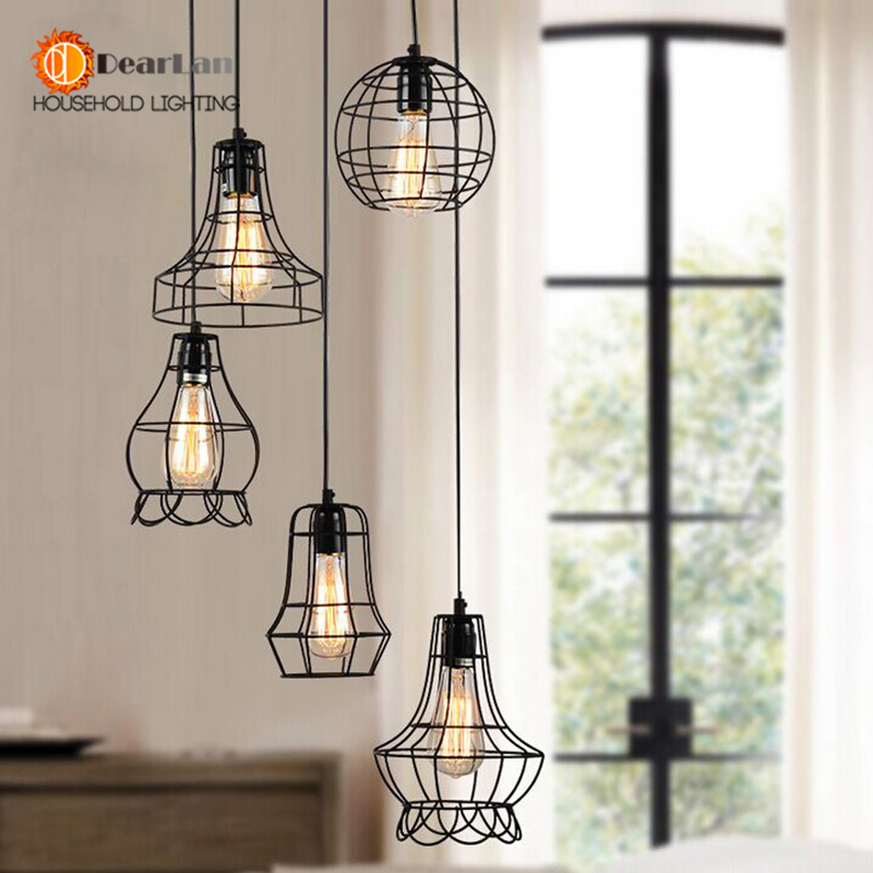 Vintage Iron Pendant Lamp With 5 Models For Selection,Nice Foyer Dining Room Bar Loft Pendant Lights E27 110-240V(DT-50)<br><br>Aliexpress