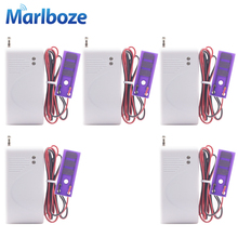 5pcs Marlboze 433mhz Wireless Water leakage Sensor Intrusion Detector for Home Security GSM Alarm System Water Leak Detector