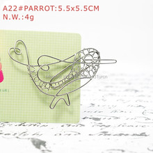 A22 PARROT PAPER/NOTE CLIP PRACTICAL/NOVELTY/CREATIVE STAINLESS HAND-MADE ART CRAFTS WEDDING&BIRTHDAY&HOME&OFFICE&GIFT&PRESENT(China)