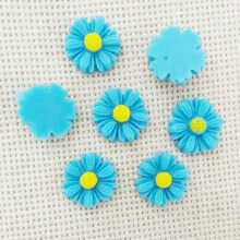 25pcs resin flowers cabochons cameo flat back no hole beads Daisy phone case headband glue on embellishements decoration bijoux
