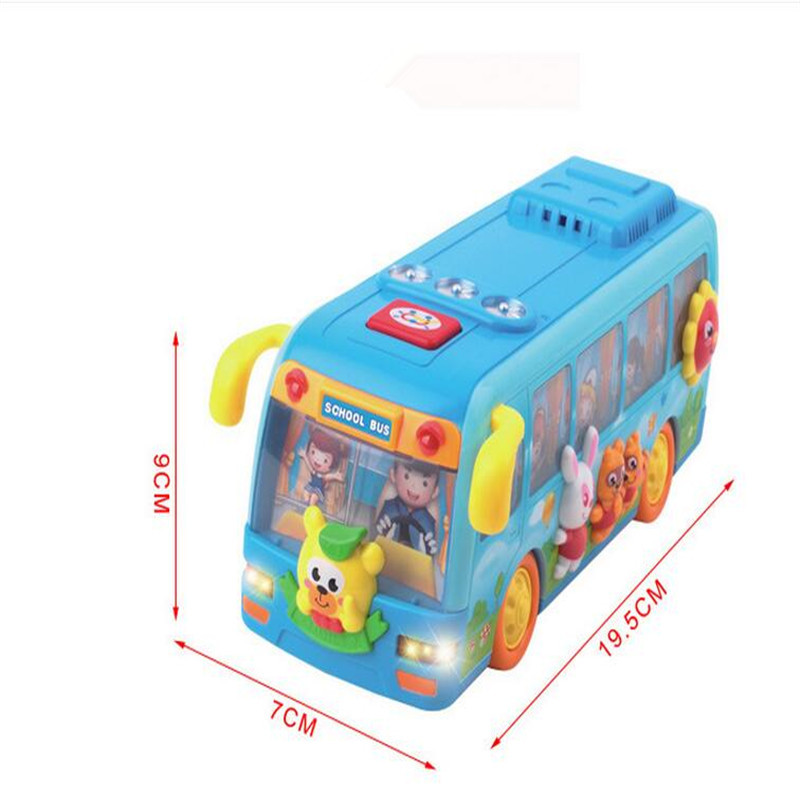 10X Shaking Musical Fun Small School Bus LED Flashing Toy Playtime Music Sounds For Kids Toddlers(China (Mainland))