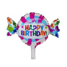 HAPPY BIRTHDAY Foil Mylar Balloons Funny Candy Foil Balloons For Kids Toy Birthday Party Decoration Gift(China)