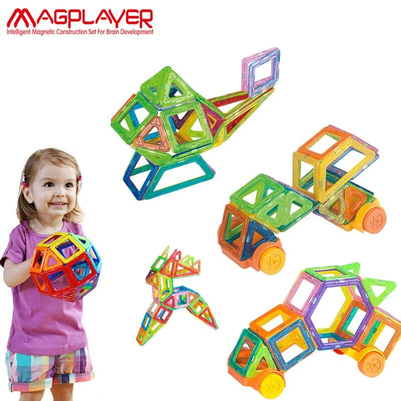 Magplayer Mini Magnetic Blocks 190pcs Magnetic Designer Blocks Construction Plastic Educational Magnetic Blocks Toys For Kids<br>