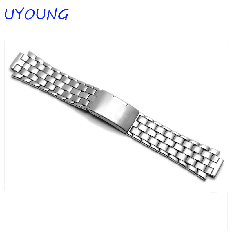 Quality solid stainless steel watchband 24*14mm silver metal bracelet for T60 L975.110<br>