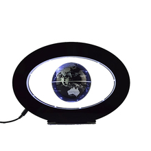 New Novelty Decoration Magnetic Levitation Floating Globe World Map with LED Light with Electro Magnet and Magnetic Field Sensor(China)