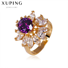 2017 new wholesalers jewellery color flower design dazzling daisy finger rings Size 5 6 for women wedding jewelry C017315(China)