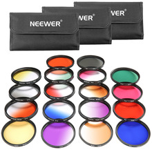 Neewer 52MM 18 Pieces Lens Filter Kit for Nikon D7100 D7000 D5200 D5100 D5000 D90 D80 Other DSLR Camera with 52MM Lens Colorful(China)