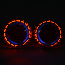 2.5HQE LHD 2.5 inch HID Bixenon Projector Lens Headlight light 6000k H1 H7 H4 With CCFL Double Angel eye White Blue Red