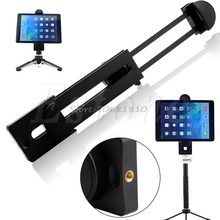 "1/4"" Thread Adapter Universal Tripod Mount Holder Bracket For 3~13"" Tablet For iPad #R179T#Drop Shipping"