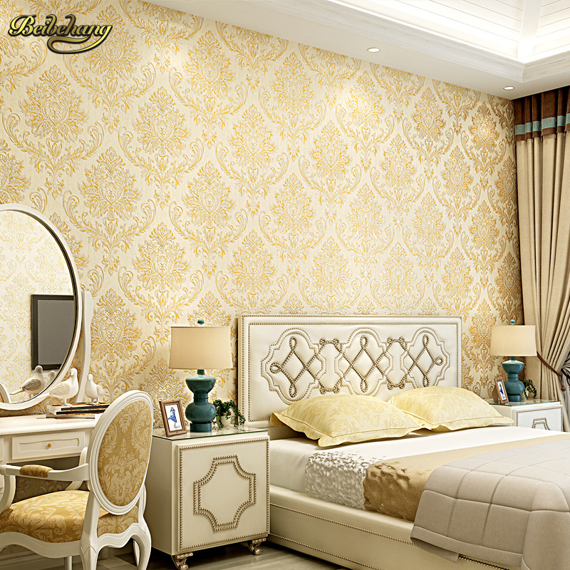 beibehang papel de parede 3D Wallpaper Damask European Wallpaper roll Wall Covering Backdrop Textured Wall Papers Home Decor<br>
