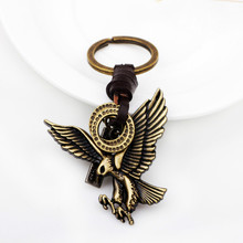2017 New Eagle Spreads Metal Small Gifts Antique Bronze Key Ring Direct Selling(China)