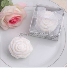 Free shipping baby shower favor gift rose flower scented soap savon wedding soap favors wedding gifts wedding souvenirs