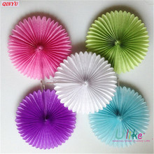 1pcs Colorful Wheel Tissue Paper Fan Pinwheels Hanging Flower Paper Crafts for DIY Home Decor Party Birthday Festival supplie 6z(China)