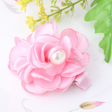 New Fabric Peony Flower Hairpins Kids Hair Accessories Headwear Bloom Flower Wedding Party Hair Clip