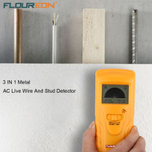 New Floureon 3 in 1 metal Live Wire and Stud Detector Metal Detector Locates Hidden Metal Pipes Live Wire Stud And Wooden Frames