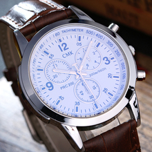 Brand CMK watches men casual business wristwatches retro fashion men's leather strap outdoor sports quartz watch 4 colors clock(China)