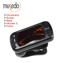 Musedo TM-25 Clip-on Electric Tuner & Metronome Guitar Chromatic Bass Violin Ukulele Universal Multifunction Portable