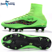 FANCIHAWAY New Arrival Football Boots AG Superfly High Ankle Crampon Soccer Shoes Outdoor Cleats Athletic Trainer Wholesale(China)