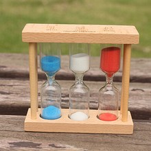Stylish Ornament Sand Hourglass Timing Countdown Wooden Sand Glass Antique Sand Clock Timer Home Decoration  P0