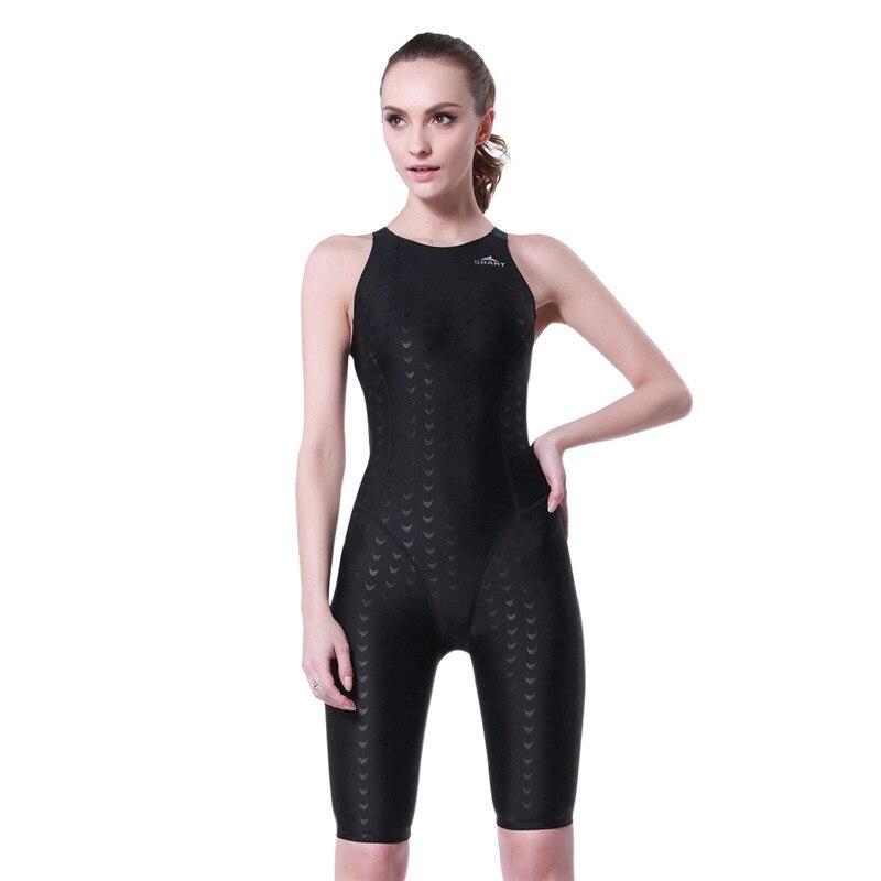 SBART Shark Skin Swimsuit Female Siamese Professional Sports Bra Swimsuit<br>