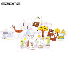 EZONE Cute Cartoon Envelope Printed Kawaii Animals Greeting Card Postcard Message Envelopes Letter Stationary Storage Paper Gift(China)