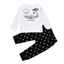 Free Shipping Baby Toddler Boy Girl Light Up LED Clothe Cartoon Design Cotton T-shirt+Pants 2Pcs Suits Children Clothing #YL(China)