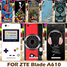Akabeila Colorful Painted Camera Soft TPU Case For ZTE Blade A610 V6 Max BA610 BA610T BA610C A 610 5.0 inch Cover Durable Shells(China)