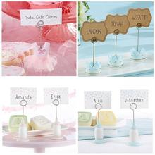 6pcs Cute Place Card Holder Baby Shower Baby Kits Birthday Party Name Table Setting Marker Shop Display Price Tag Note Holder