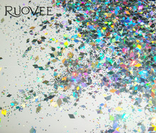 50gram-Holographic Laser Silver Glitter Mixed Diamond rhombus  Paillette Spangles Shape for Nail Art Decoration&Glitter Crafts
