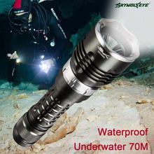 Waterproof CREE XML2 9000 Lumens Scuba Diving LED Flashlight 4 Modes Underwater 70m Dive Torch Outdoor Lamp 18650 battery PJW