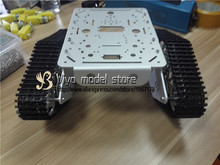 DIY T300 Zilveren Metalen large truck silver metal tank chassis Wali smart car crawler robot model(China)