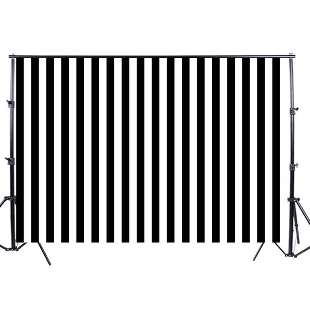 horizontal white black stripes background photography studio photo backdrop background backdrop XT-3595<br>