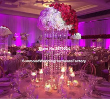 Hot selling crystal chandelier centerpieces gold wedding table centerpieces