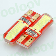 10x T10 Silica gel 194 W5W 24 Led 4014SMD T10 canbus super bright Led 10 Pcs White Car light bulbs(China)