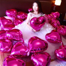 Pearl Pink Love Heart Foil Helium Balloons Wedding Birthday Party Decoration I Love You New Year Balloon Red Valentines Day Gift
