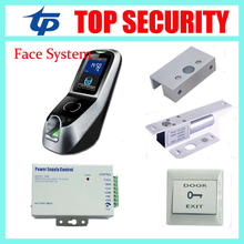 Multibio700 face and fingerprint access control door control system,12V3A power supply ,electric lock and PC exit button,bracket(China)