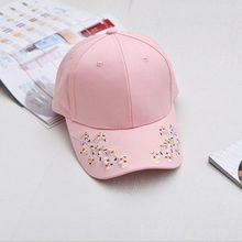 2017 summer new Floral Baseball Caps Flowers Caps Snapback Wholesale Fashion Women Leisure hats very low prices free shipping