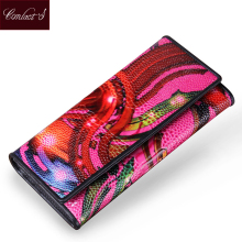 Brand Design New Women Wallets Vintage Famous Brands Woman Portfolio Purse Long Female Wallet Ladies Wristlet Clutch Hand Bag(China)