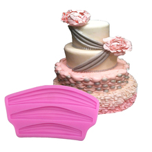 1 Pcs Fondant Cake Molds Soap Chocolate Mould for the Kitchen Baking Decoration DIY Cake Mould 3D Sugar Jelly Silicone Mold(China)