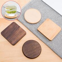Vintage Durable walnut wood Beverage Coasters Anti-slip Cup Coffee Mug Mat Heat Resistant Table Placemat