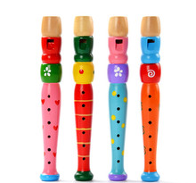 2017 New Colorful Wooden Buglet Hooter Educational Toy Gift For Kids Baby toys musical instruments for children Infant Oyuncak(China)