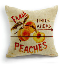 fresh fruits tomato peach cotton linen pillow cushion cases Apple cushion covers without filling for sofa decor(China)