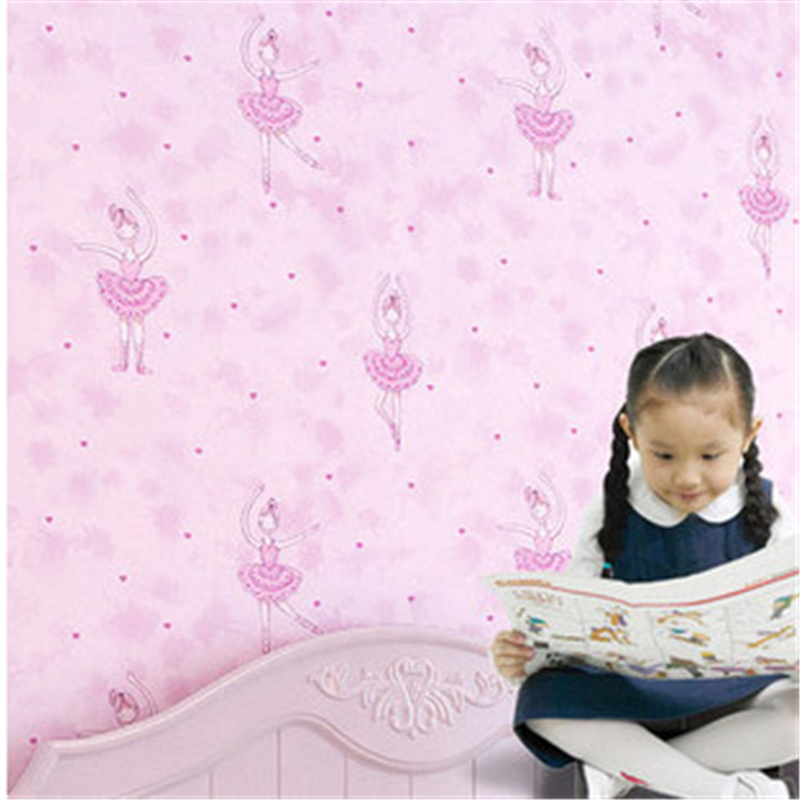 beibehang Fantasy Ballet Girl Print Kid Room Decor Wallpaper Cute Dancer Design Non-woven Wall Paper Mural Wallpapers for Ki<br>