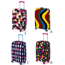 New Qualified Luggage Cover 18-20 Inches Elastic Nonwoven Dust-Proof Travel Bag Suitcase Cover Elastic Suitcase Sets D40Au2