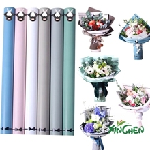 20pcs 60X60cm 2017 new flowers wrapping paper double-sided paper rabbit frame pattern cartoon bouquet packing material